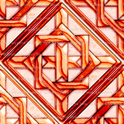 """Marble Quilt Red Diagonal 18"""""""
