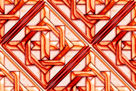 """Marble Quilt Red Diagonal 18"""" fabric by stradling_designs on Spoonflower - custom fabric"""