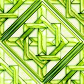 "Marble Quilt Lt Green Diagonal 18"""