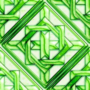 "Marble Quilt Green Diagonal 18"""