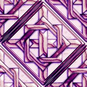 Marble Quilt Purple Diagonal