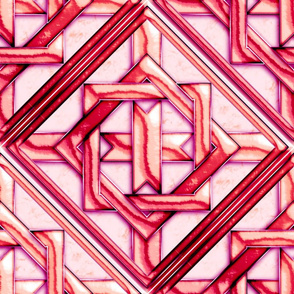 """Marble Quilt Pink Diagonal 18"""""""