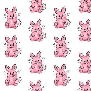 Cartoon bunny pink