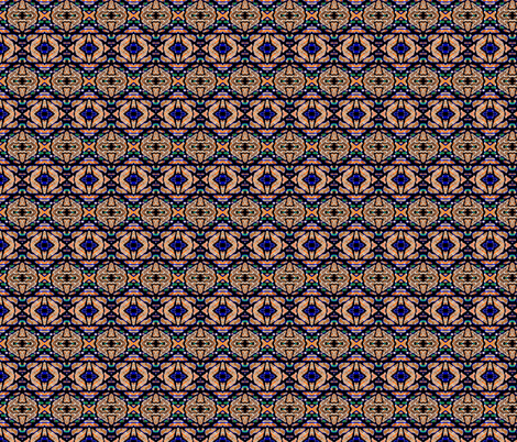 More Horizontal Tribal Stripes  fabric by robin_rice on Spoonflower - custom fabric