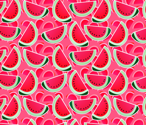 watermelon slices fabric by hannafate on Spoonflower - custom fabric