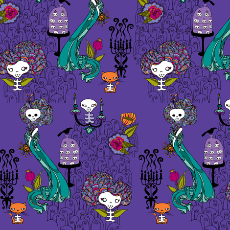 candelabra fabric by skellychic on Spoonflower - custom fabric