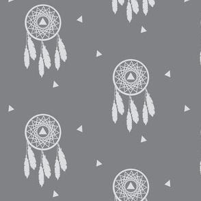 Grey Dream Catcher - Native Dream Catcher