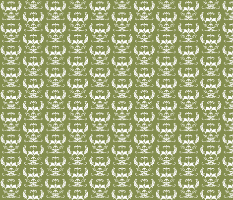 Love_Bug_Damask_Lt_Gr fabric by kds_designs on Spoonflower - custom fabric
