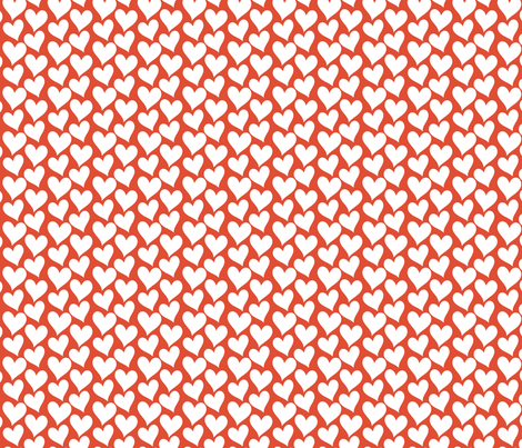 Corazones fabric by luzpaucar on Spoonflower - custom fabric
