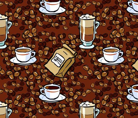 coffee fantasy fabric by hannafate on Spoonflower - custom fabric