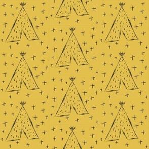 Mustard Teepees - Geometric Teepee