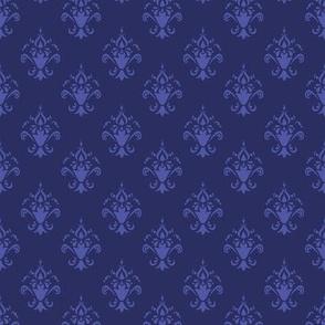 Blue and Purple Damask