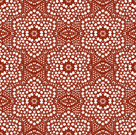 Solid Red Dot Bloom fabric by eclectic_house on Spoonflower - custom fabric