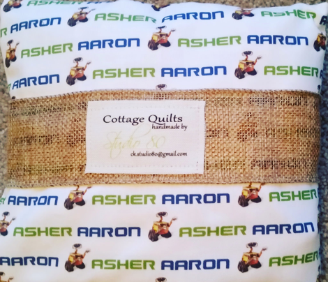 Asher Aaron Personalized Fabric