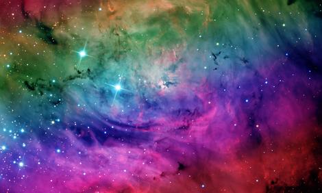 "Rainbow Galaxy Nebula Fabric 60"" Wide fabric ..."