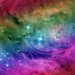 "Rainbow Galaxy Nebula Fabric 60"" Wide"