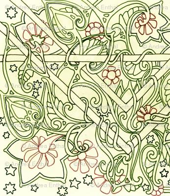 Paisley Flower Tangle