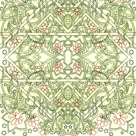 Paisley Flower Tangle fabric by edsel2084 on Spoonflower - custom fabric