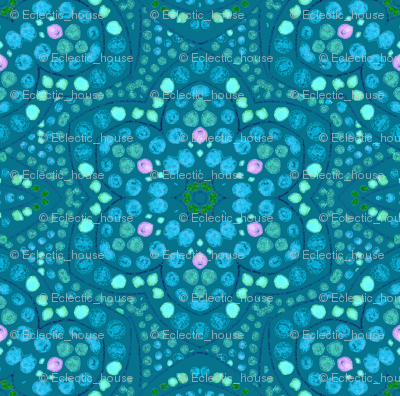 Periwinkle and Mint Dot Bloom
