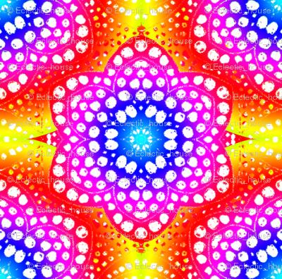 Rainbow Tie Dye Dot Bloom