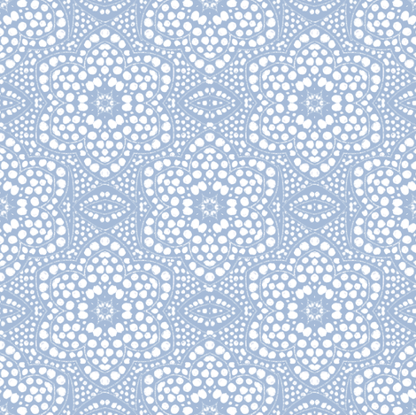 Solid Powder Blue Dot Bloom fabric by eclectic_house on Spoonflower - custom fabric