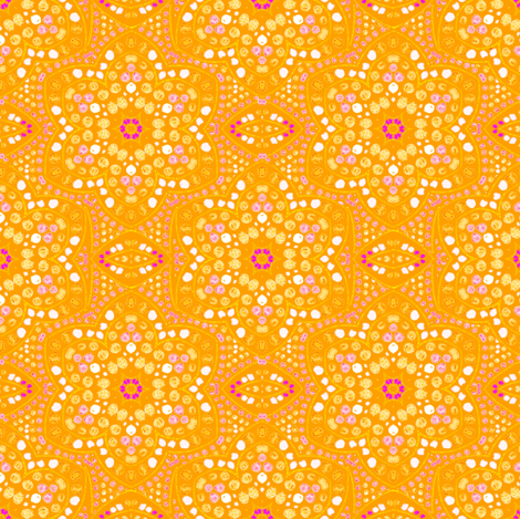 Sunshine Dot Bloom fabric by eclectic_house on Spoonflower - custom fabric