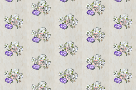 Weathered_blooms fabric by jennifer_rizzo on Spoonflower - custom fabric