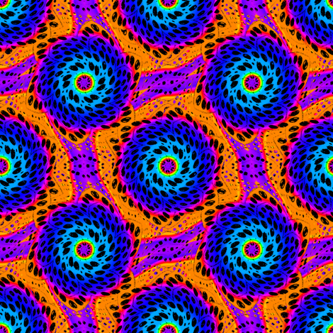 Rainbow Tie Dye Dot Bloom 5 fabric by eclectic_house on Spoonflower - custom fabric