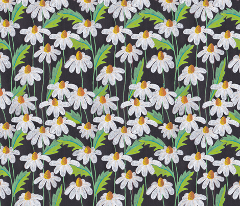 White Daisy fabric by frutejuce on Spoonflower - custom fabric