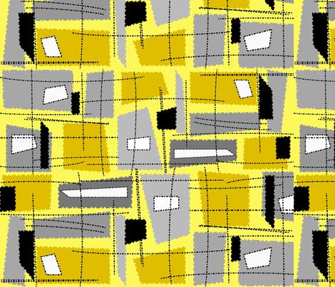 Mid-Century Modern Yellow Grey Rectangles fabric by hot4tees_bg@yahoo_com on Spoonflower - custom fabric