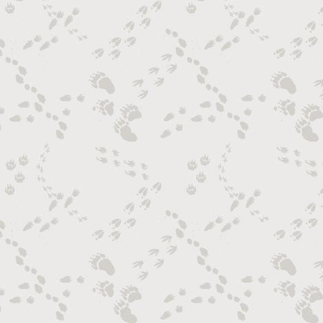 Forest Friends Animal Tracks fabric by rick_rack_scissors_studio on Spoonflower - custom fabric