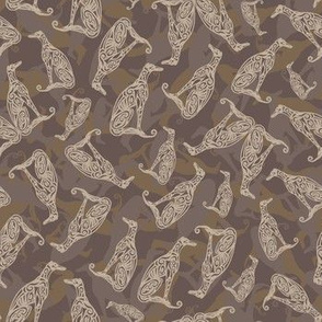 Greyhound Camo Dark Chocolate Brown