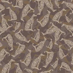 Greyhound Camo Dark Chocolate Brown