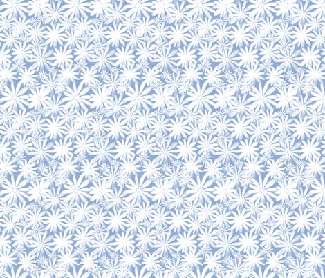 Floral  Blue fabric by luzpaucar on Spoonflower - custom fabric