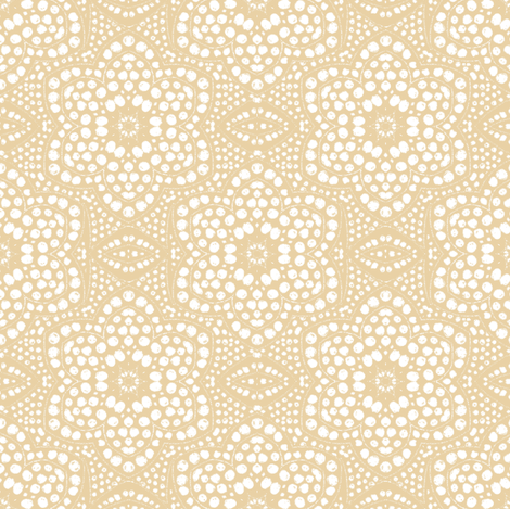 Solid Cream Dot Bloom fabric by eclectic_house on Spoonflower - custom fabric