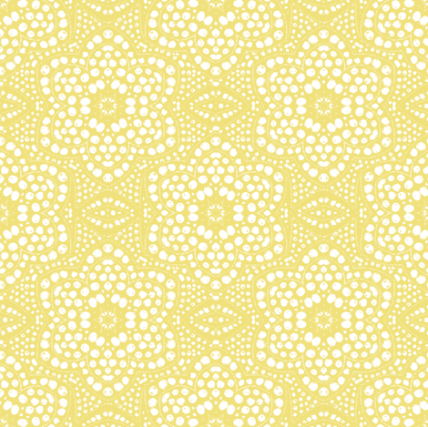 Sunny Yellow Dot Bloom fabric by eclectic_house on Spoonflower - custom fabric