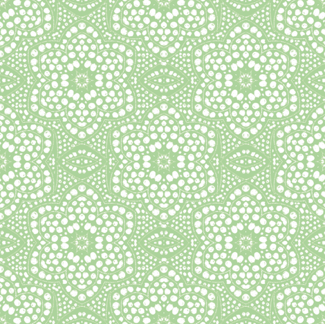 Light Green Dot Bloom fabric by eclectic_house on Spoonflower - custom fabric