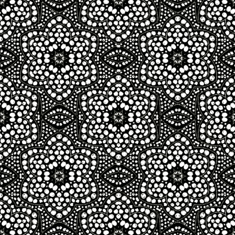 Black Dot Bloom fabric by eclectic_house on Spoonflower - custom fabric