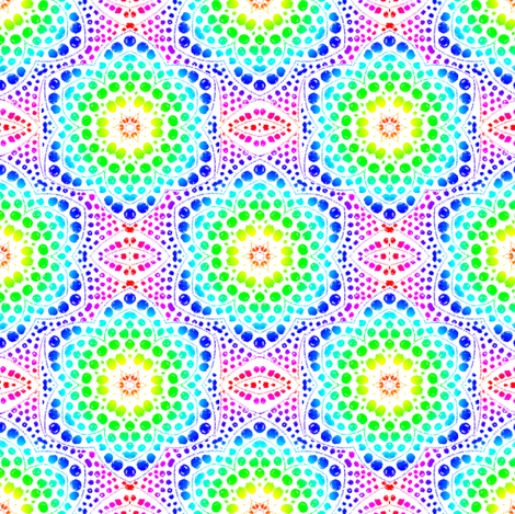 Rainbow Dot Bloom fabric by eclectic_house on Spoonflower - custom fabric