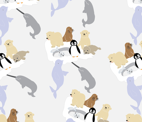 Arctic Friends fabric by vieiragirl on Spoonflower - custom fabric