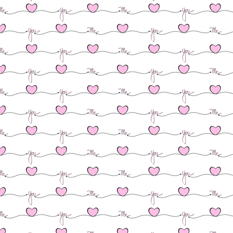 Me Heart You One fabric by jewelraider on Spoonflower - custom fabric