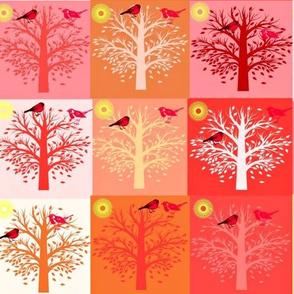 ORANGE & RED TREES