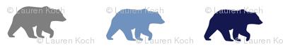 bear walk // grey, navy & denim