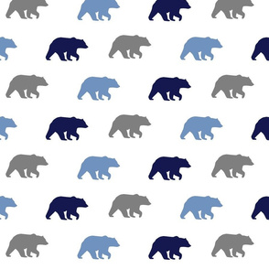 bear walk // grey, navy & denim