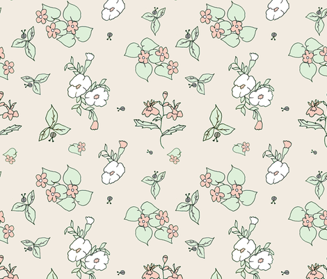 Pastel Flower Garden fabric by elodielane on Spoonflower - custom fabric