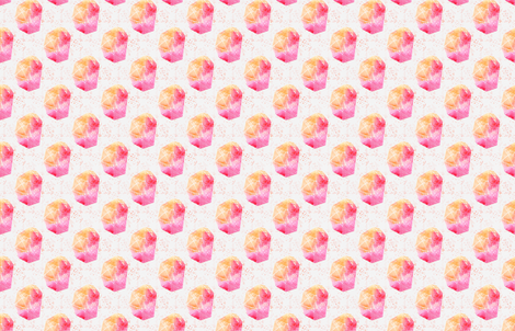Crystals with background fabric by six_little_spoons on Spoonflower - custom fabric