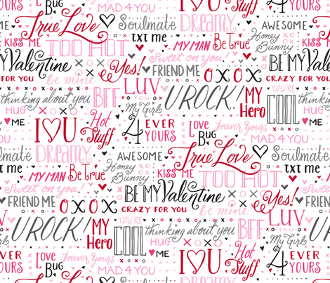 Love Notes - © Lucinda Wei fabric by lucindawei on Spoonflower - custom fabric