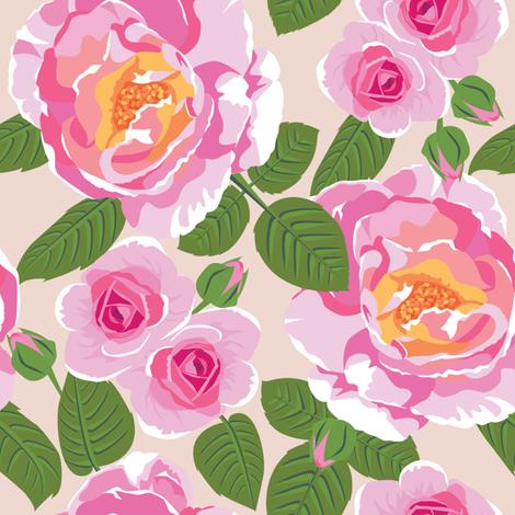 Rose Garden fabric by laura_mooney on Spoonflower - custom fabric
