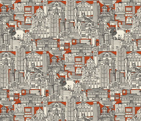 Hong Kong toile de jouy fabric by scrummy on Spoonflower - custom fabric