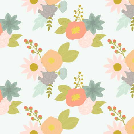 Spring Bouquet fabric by mintpeony on Spoonflower - custom fabric